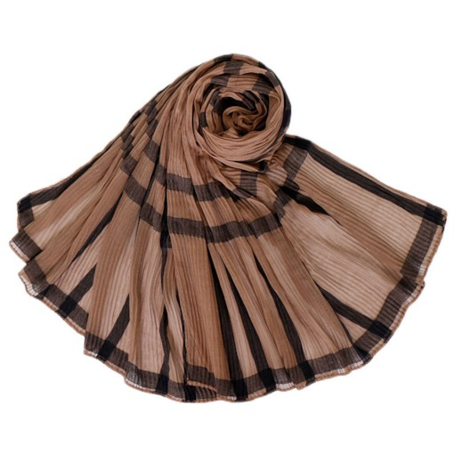 Voile Printed Vintage Plaid Scarves