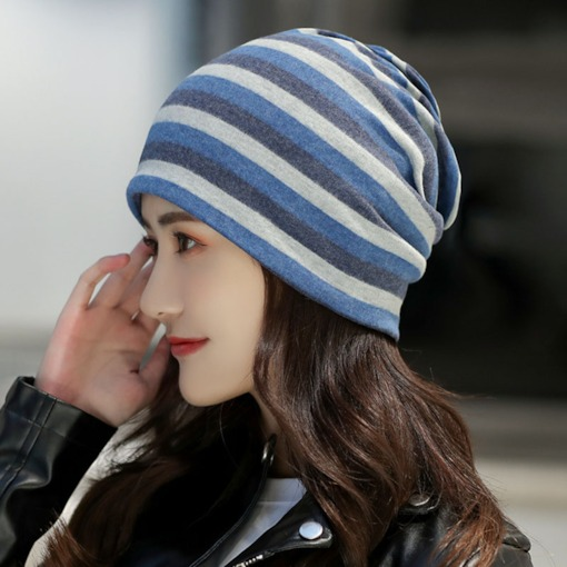 Korean Skullies & Beanies Cotton Winter Hats