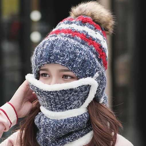 Woolen Yarn Hemming Casual Winter Hats
