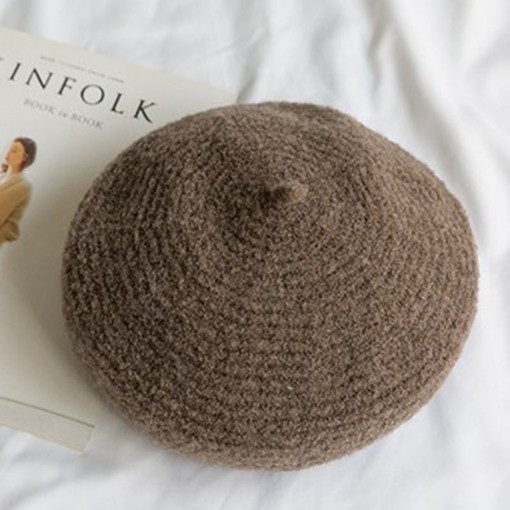 Woolen Yarn Plain Beret Hats