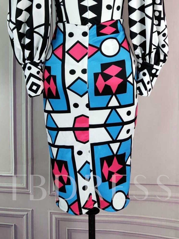 Geometric Print Women's Two Piece Sets