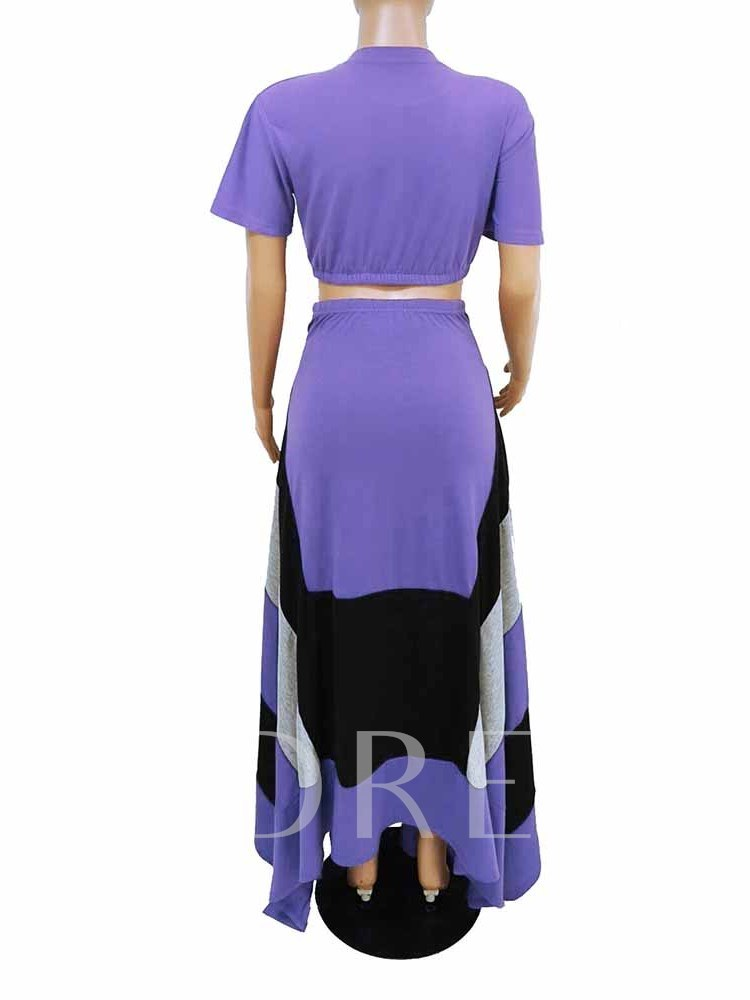 Casual Plain Round Neck Wide Legs Women's Two Piece Sets