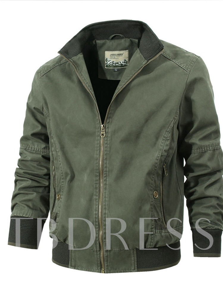 Thick Patchwork Stand Collar Color Block European Men's Jacket