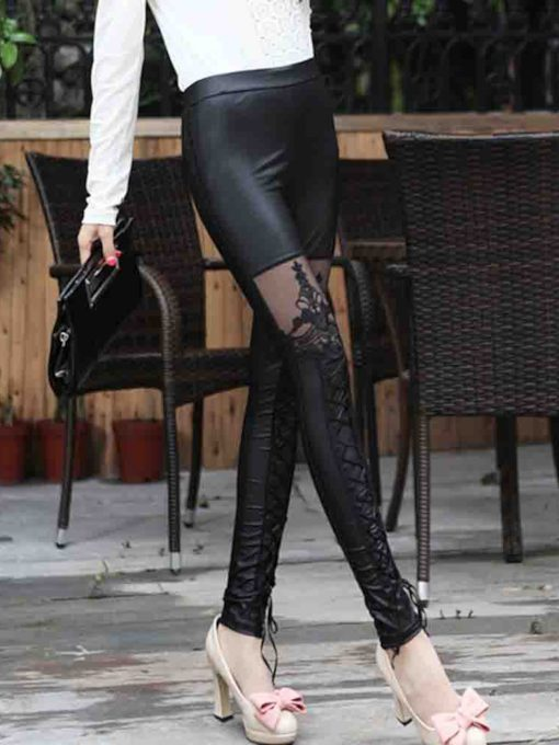 Plain Lace Slim Women's Leggings