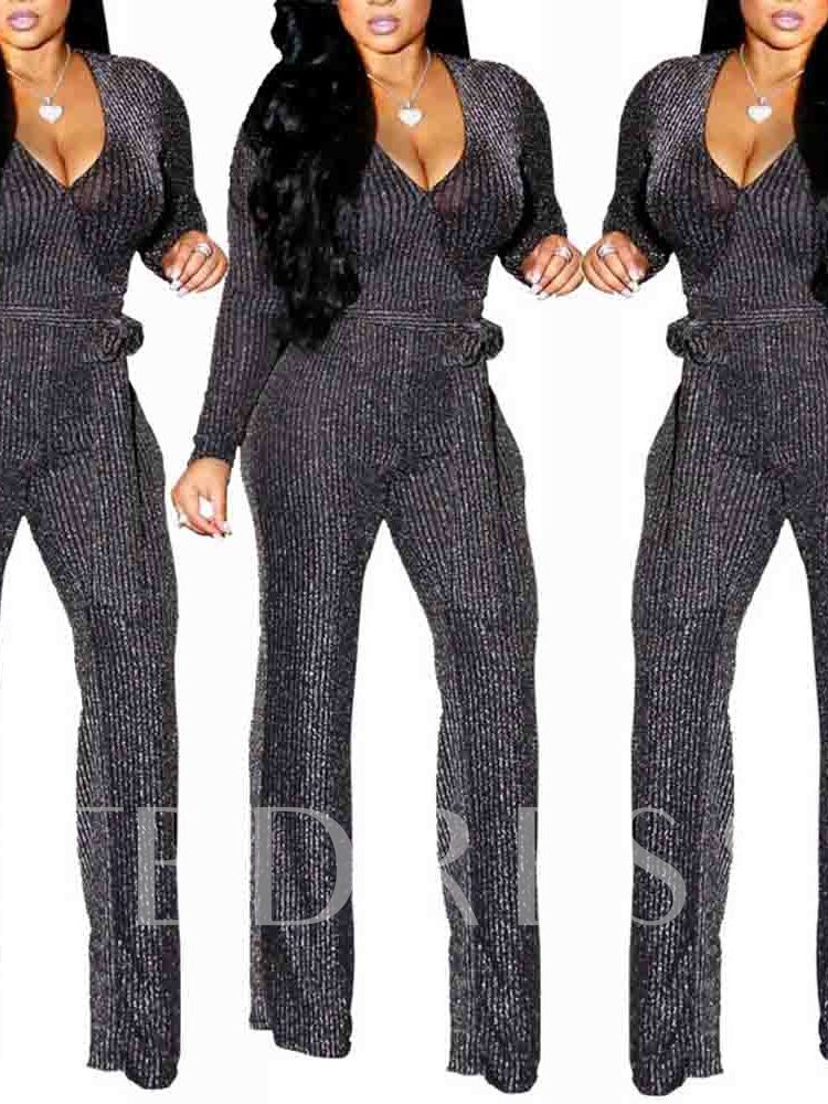 Sexy Full Length Slim Plain Women's Jumpsuit