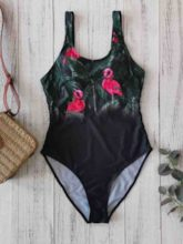One Piece Print Floral Sexy Women's Swimwear