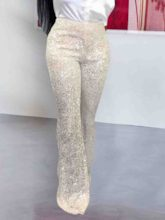 Loose Sequins Plain Wide Legs Women's Casual Pants