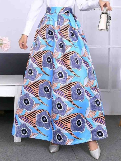 Expansion Plant Print Floor-Length Sweet Women's Skirt