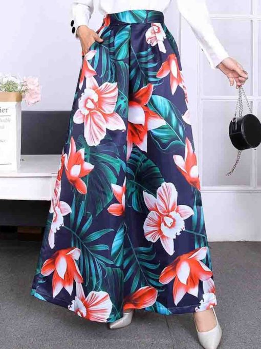 Print Floor-Length Expansion Plant Women's Skirt