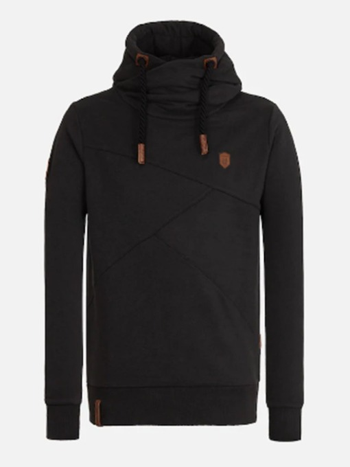 Patchwork Pullover Men's Slim Hoodies