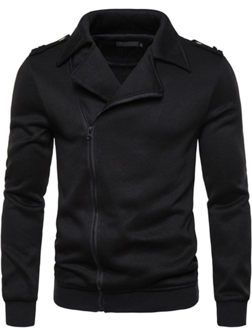 Cardigan Plain Zipper Men's Hoodies