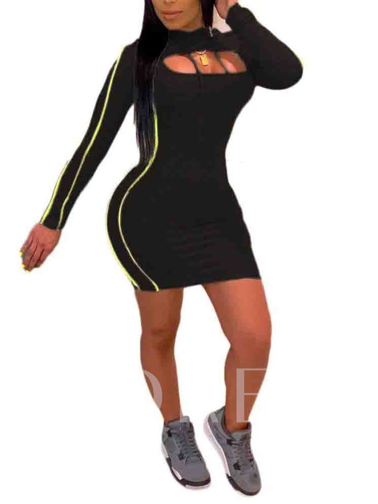 Color Block Sports Hoodie Women's Two Piece Sets