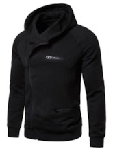 Cardigan Zipper Plain Casual Men's Hoodies