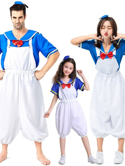 Navy Ente Cartoon Anime Eltern-Kind-Outfit