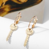 Chic Alloy E-Plating Anniversary Drop Earrings