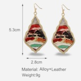 Vintage Oil Drip Alloy Holiday Earrings