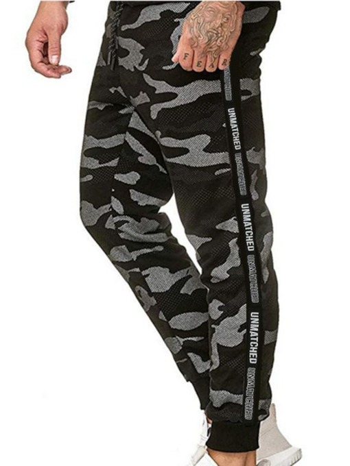 Patchwork Camouflage Casual Men's Casual Pants