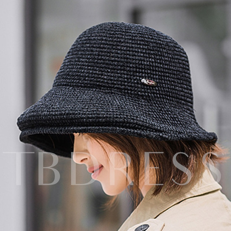 Acrylic Wide Brim Winter Bucket Hat