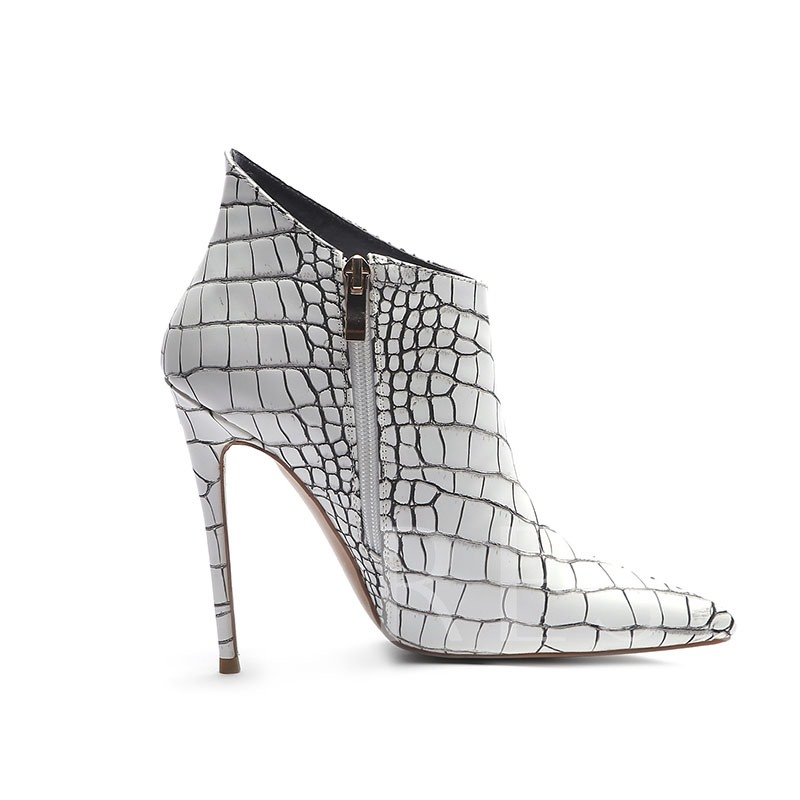 Color Block Pointed Toe Stiletto Heel Customized Booties