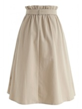 Knee-Length A-Line Color Block Sweet Women's Skirt