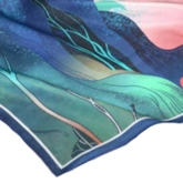 Scarf Silk Print Cartoon Women's Scarves