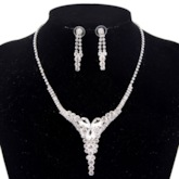 Earrings Plain Crystal Inlaid Anniversary Jewelry Sets