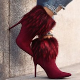 Suede Customized Side Zipper Pointed Toe Stiletto Heel Ankle Boots