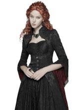 Halloween Costume Patchwork Slim Long Women's Overcoat