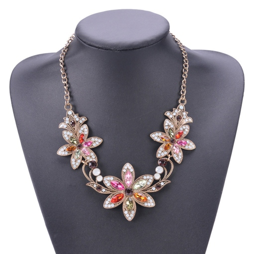 Pendant Necklace Floral Sweet Female Necklaces