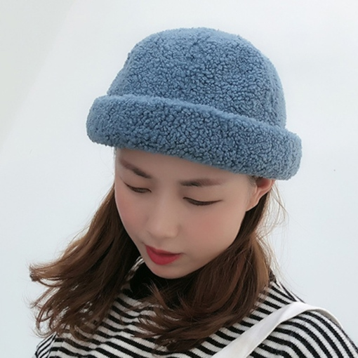 Brimless Cashmere Dome Shape Winter Women's Hats