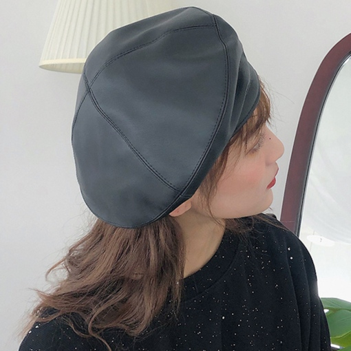 Leather Sewing Chic Women's Beret Hat