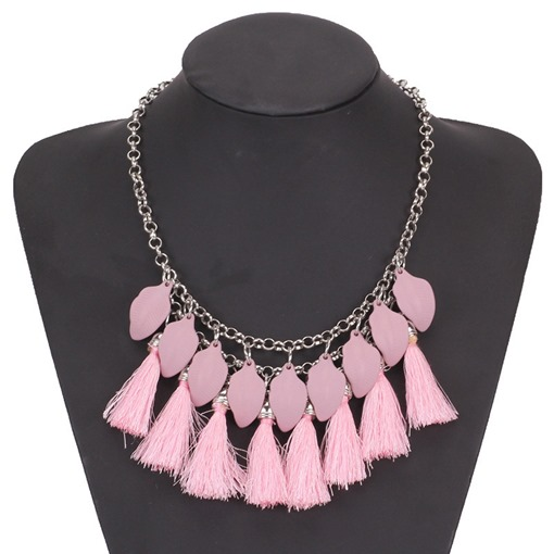 Tassel Vintage Female Link Chain Pendant Necklace