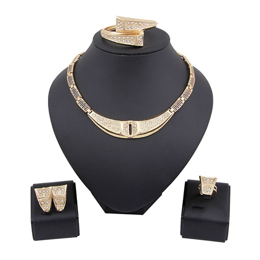European Diamante Necklace Wedding Jewelry Sets