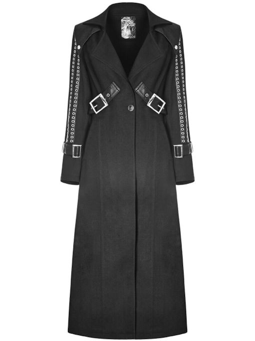 Halloween Costume Rivet Loose Long Women's Overcoat