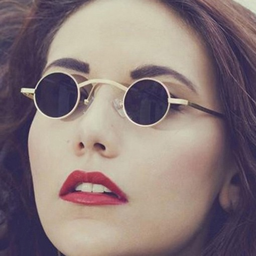 Resin Round Vintage Sunglasses