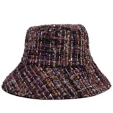 Wool Blends Wide Brim Dome Shape Bucket Hat