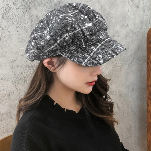 Korean Wool Blends Winter Newsboy Cap