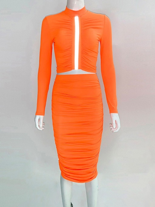 Plain Fashion Women's Two Piece Sets