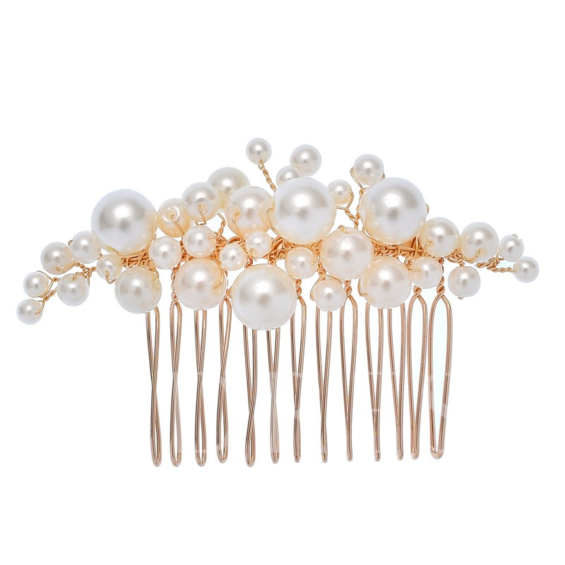 Floral Hair Comb European Hair Accessories (Wedding)