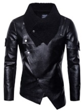 Patchwork Lapel Plain European Men's Jacket