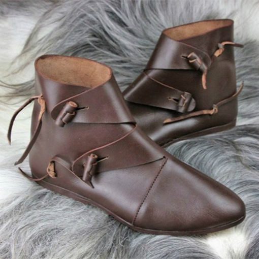 Round Toe Hasp Vintage Flat Boots