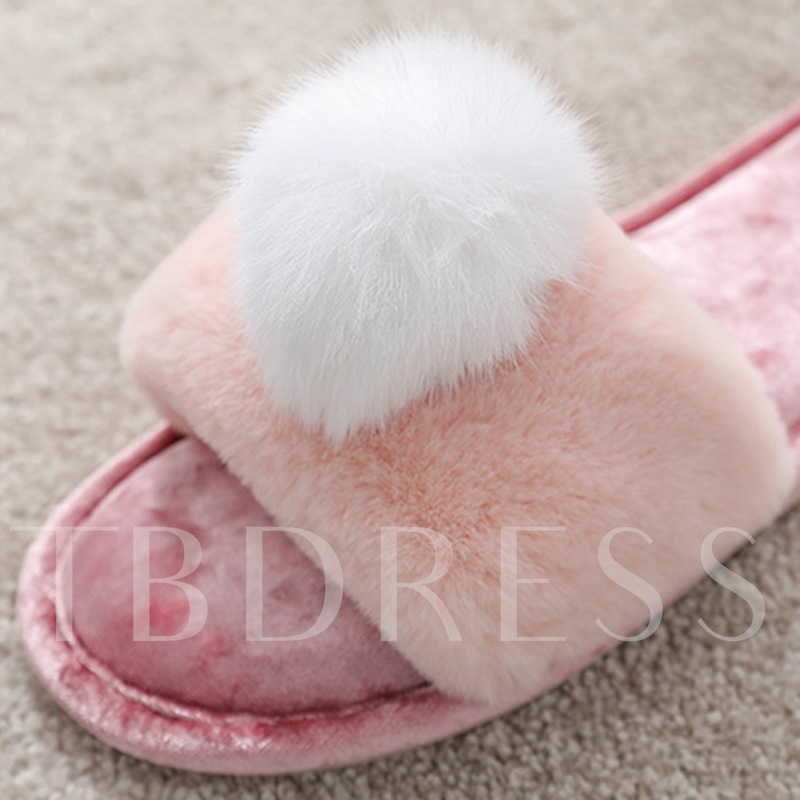 Flat Heel Slip-On Indoor Wniter Slippers