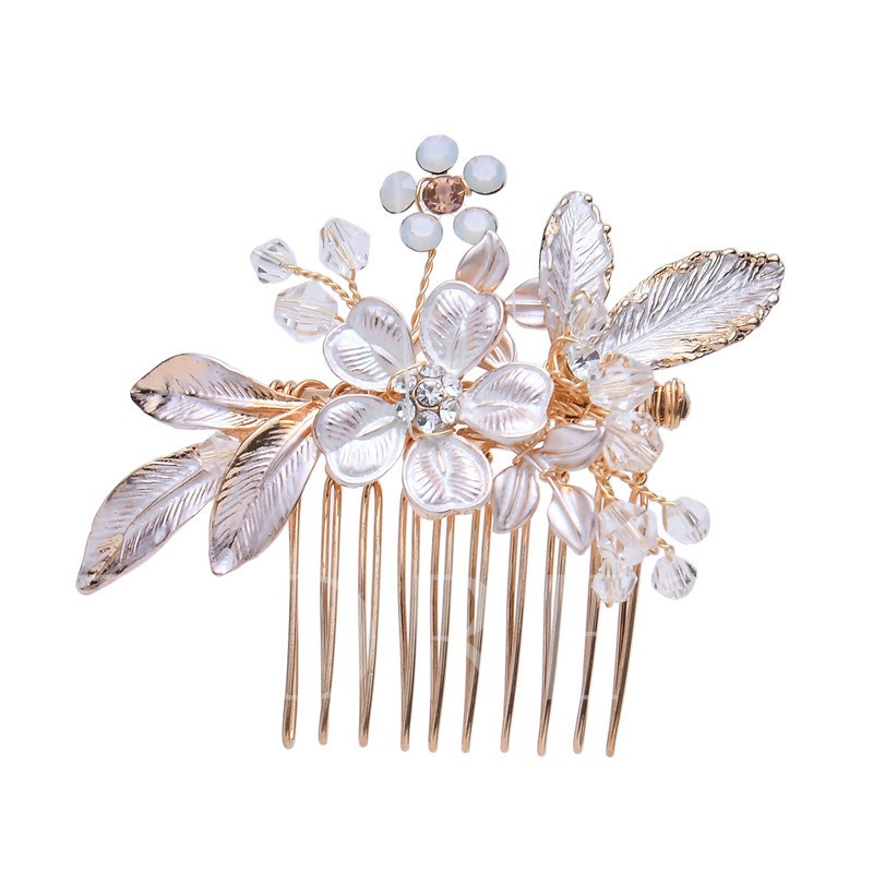 Handmade Floral Hair Comb Hair Accessories (Wedding)