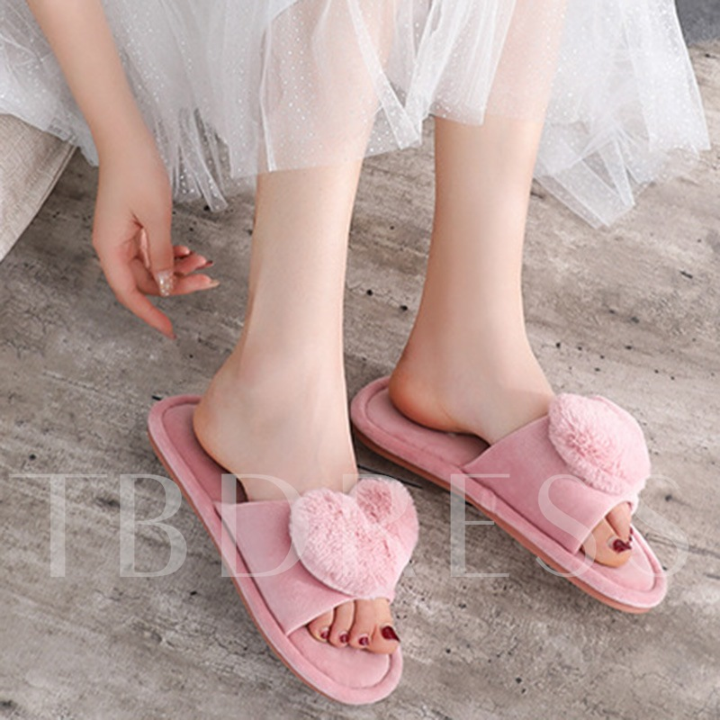 Candy Color Slip-On Wniter Slippers