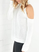 Regular Cold Shoulder Thick Fall Women's Sweater
