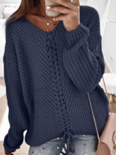 Long Sleeve Plain Women's Sweater