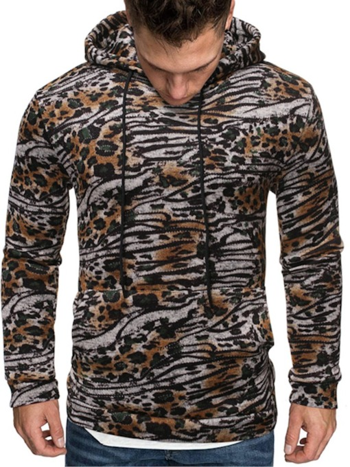 Color Block Pullover Casual Men's Hoodies