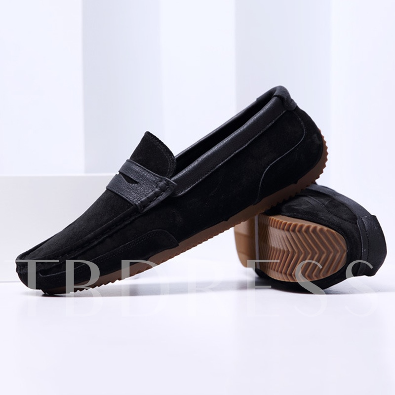 Low-Cut Upper Slip-On Patchwork Round Toe Men's Loafers