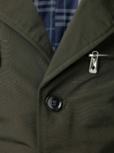 Plain Lapel Button Men's Jacket