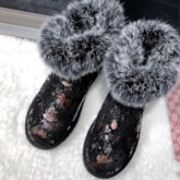 Slip-On Color Block Round Toe Buckle Snow Boots